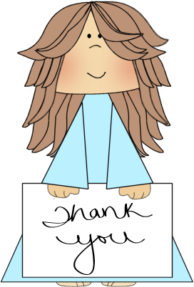 Thank You Sign Clip Art Image   Girl Holding A Thank You Sign Clip Art