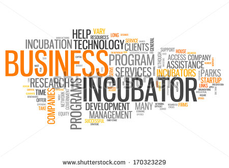 Word Cloud With Business Incubator Related Tags   Stock Photo