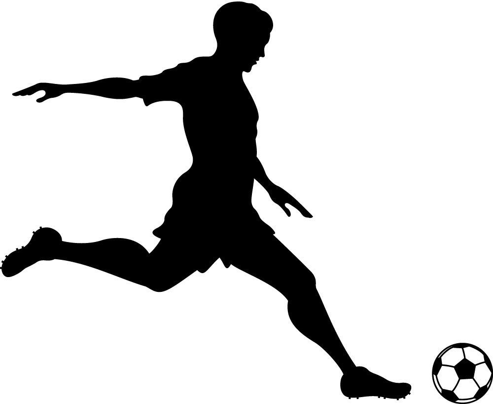 Clip Art Soccer Player Clipart soccer player clipart kid kicking ball silhouette panda free images