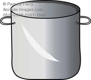 Large Stock Cooking Pot Royalty Free Clip Art Picture