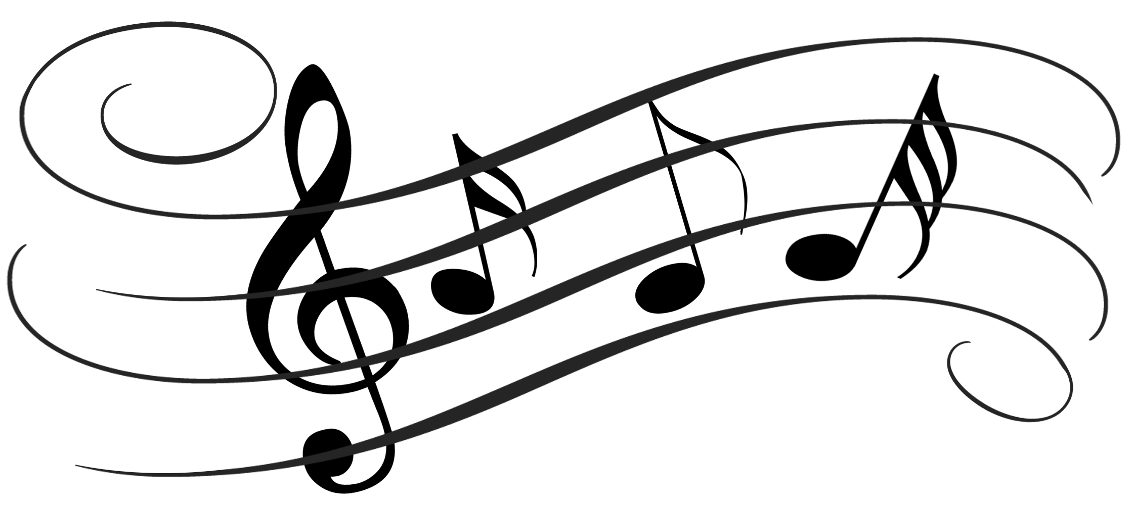 Music Notes On Staff Clipart Dt6xgz8t9