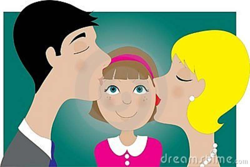 Parents And Child Kiss Stock Images   Image  4496464