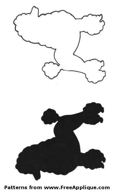 Poodle with leash silhouette clipart clipart suggest for Poodle skirt applique template