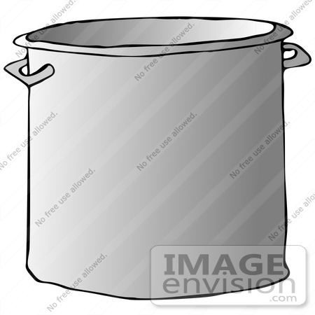 Royalty Free Clipart Of A Big Metal Kitchen Stock Pot   0012 0808 2316