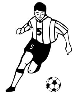 Soccer Player 06   Http   Www Wpclipart Com Recreation Sports Soccer