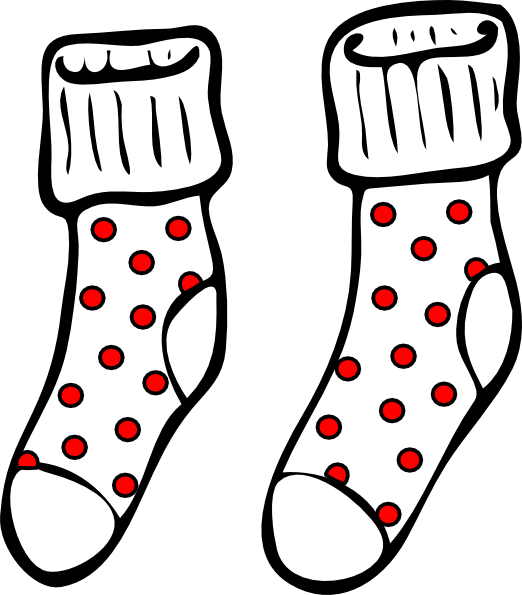 Spotty Socks Clip Art At Clker Com Vector Clip Art Online Royalty