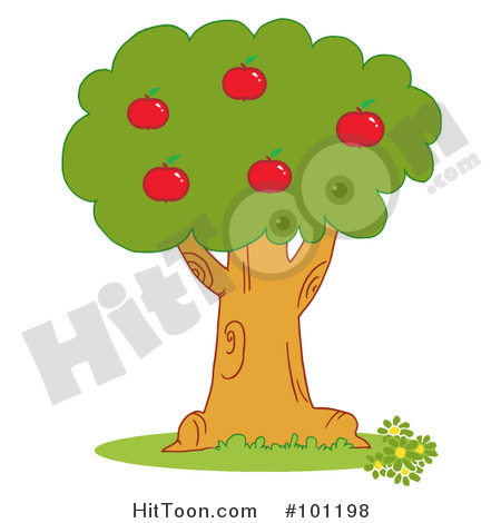 Apple Tree Clipart  101198  Red Apples On An Orchard Tree By Hit Toon