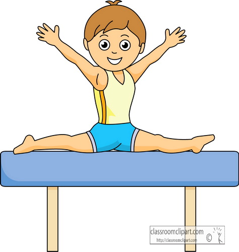Beam Gymnastics Clip Art Gymnastics Coloring Pages Gymnastics Beam