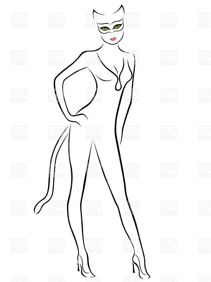 Cat Woman Silhouette Clip Art