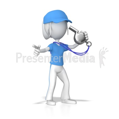 Female Coach With Whistle   Presentation Clipart   Great Clipart For
