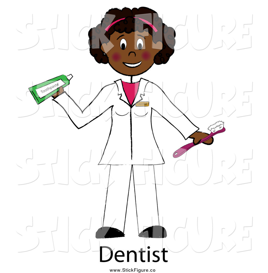Female Dentist Holding A Toothbrush And Toothpaste By Pams Clipart
