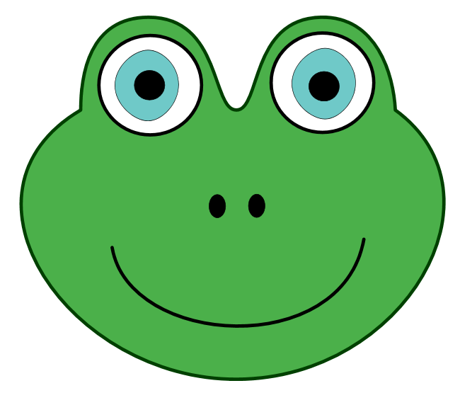 Frog Face Clipart - Clipart Kid