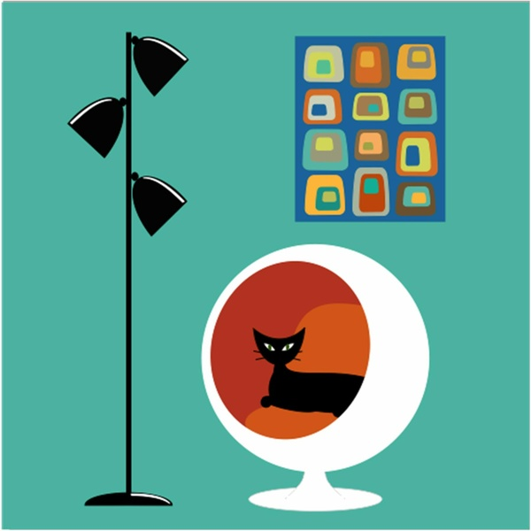 Mid Century Modern Art Peacock Clipart Free Clip Art Images