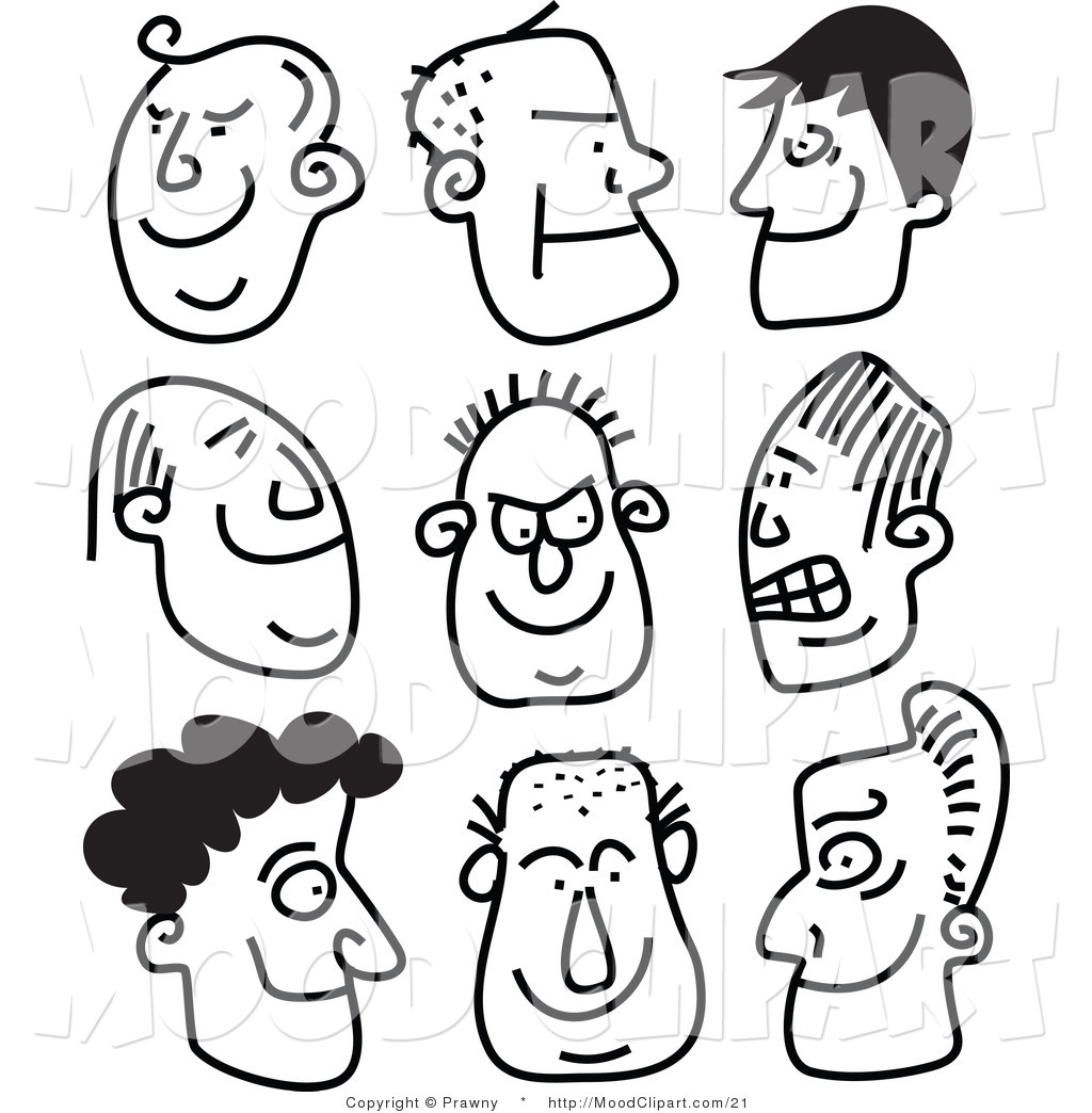 People Black And White Clipart - Clipart Kid