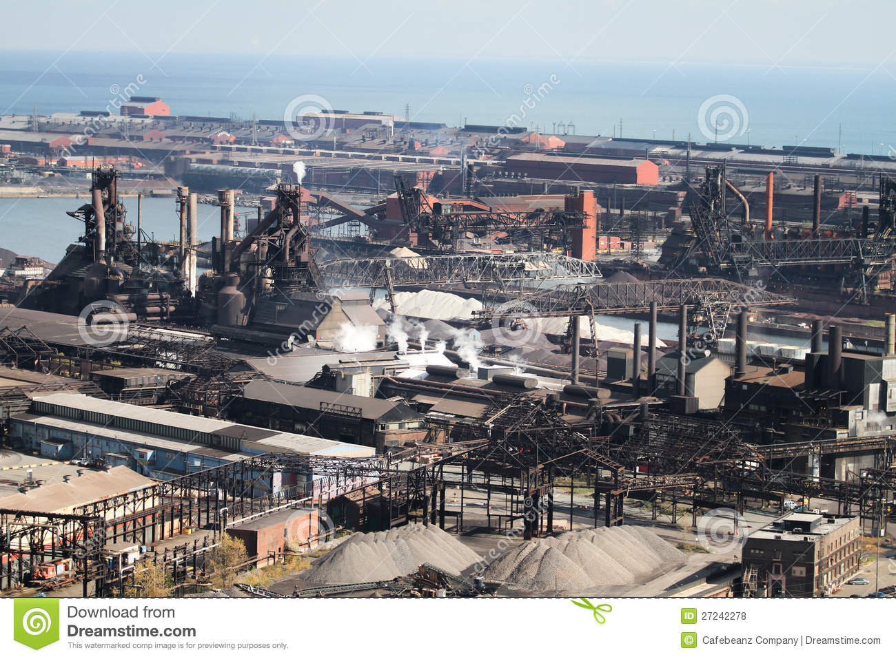 Steel Mill In Hammond Indiana Several Miles South Of Chicago