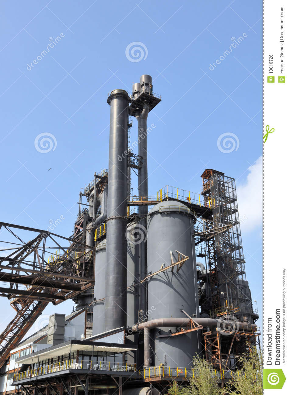 Steel Mill Royalty Free Stock Image   Image  13016726