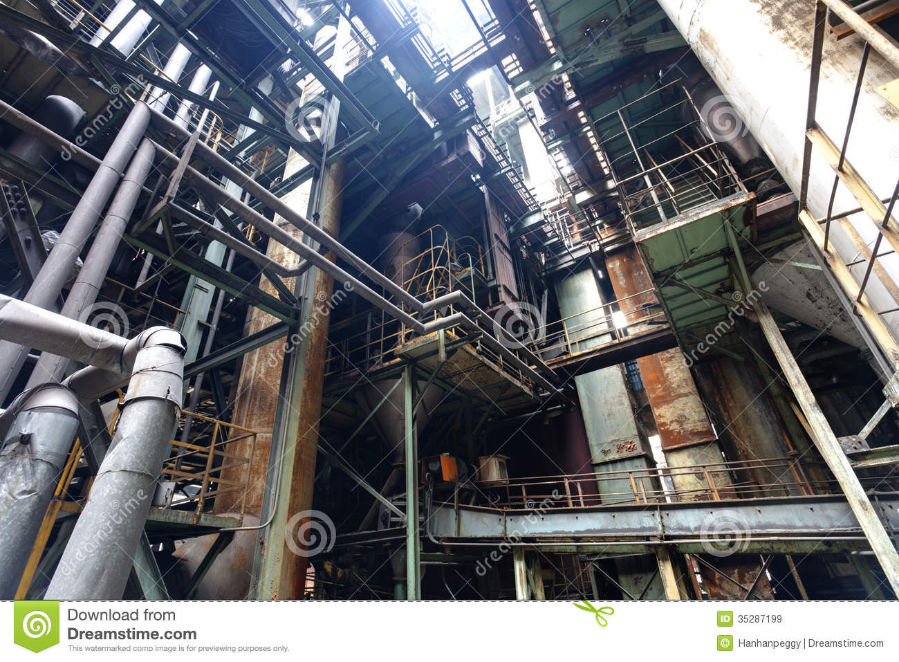 Steel Mill Royalty Free Stock Images   Image  35287199