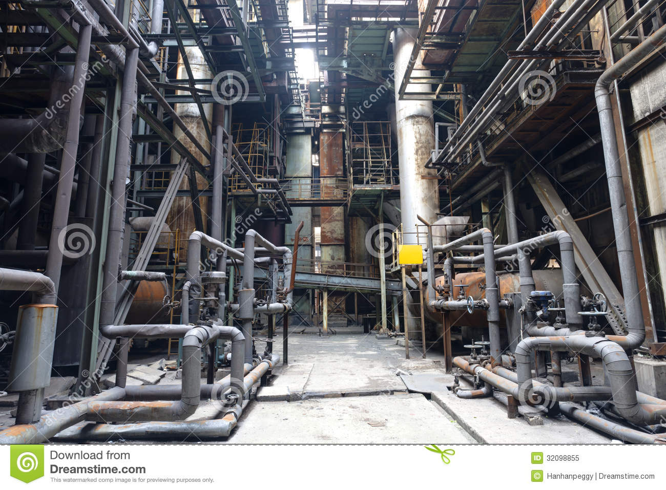Steel Mill Royalty Free Stock Photo   Image  32098855