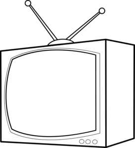Tv Clip Art Black And White   Clipart Panda   Free Clipart Images
