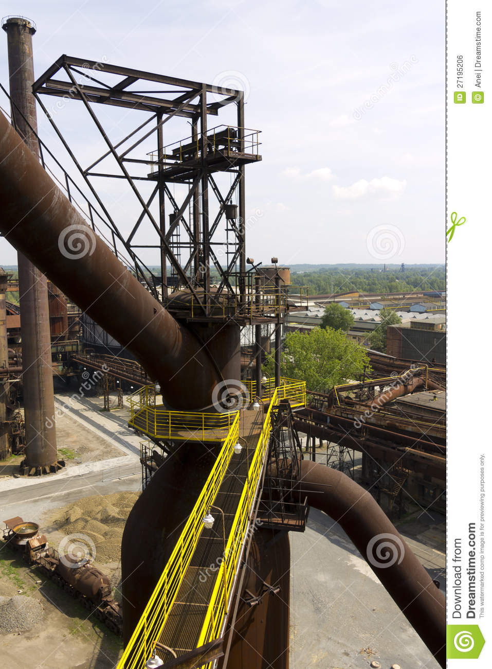 Vitkovice Steel Mill Infrastructre Royalty Free Stock Image   Image
