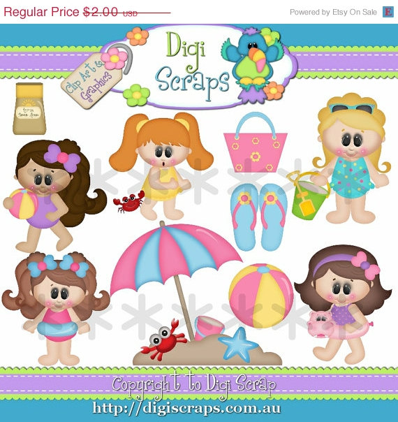 30  Off Bathing Beauties Clip Art Clipart By Digiscrapsau On Etsy