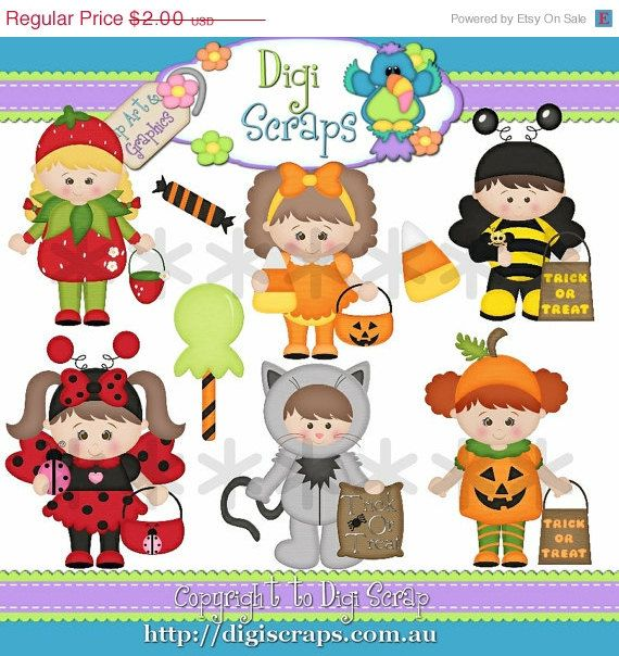 30  Off Costume Kids Clip Art   Clipart Scrapbooking Set