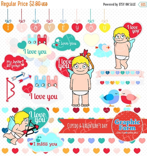 30  Off Sale Cupido E Valentines Dayclipartvector Graphicsdigital