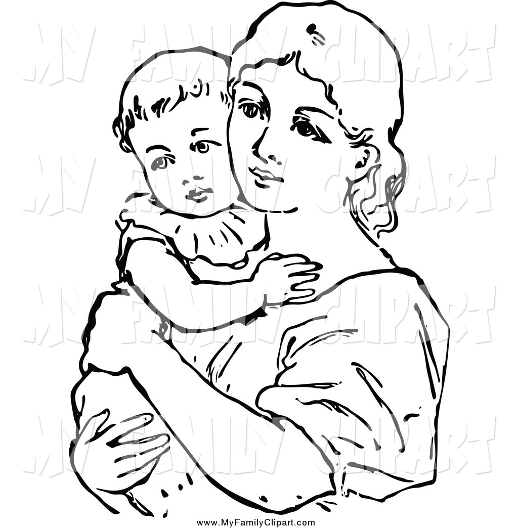 Mother Holding Baby Clipart - Clipart Suggest