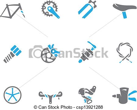 Bicycle Parts   Bicycle Part Icons Csp13921288   Search Clip Art