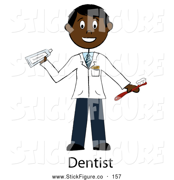 Dentist Holding A Toothbrush And Toothpaste By Pams Clipart    157