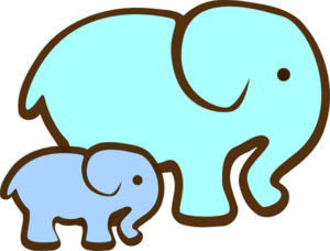 Clip Art Baby Elephant Clip Art mommy and baby elephant clipart kid shower blue mom md png