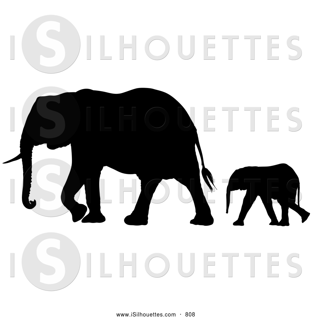 Elephant Mom And Baby Silhouette Mother And Baby Elephant 5