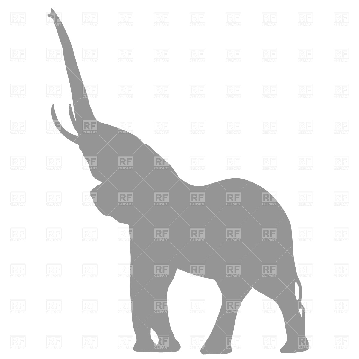 Elephant Silhouette 638 Silhouettes Outlines Download Royalty Free