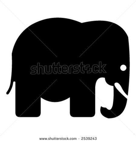 Elephant Silhouette Stock Vector Illustration 2539243   Shutterstock