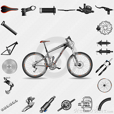 Full Suspension Mountain Bike Royalty Free Stock Image   Image