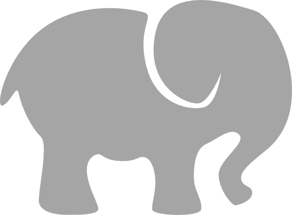Gray Elephant Clip Art At Clker Com   Vector Clip Art Online Royalty