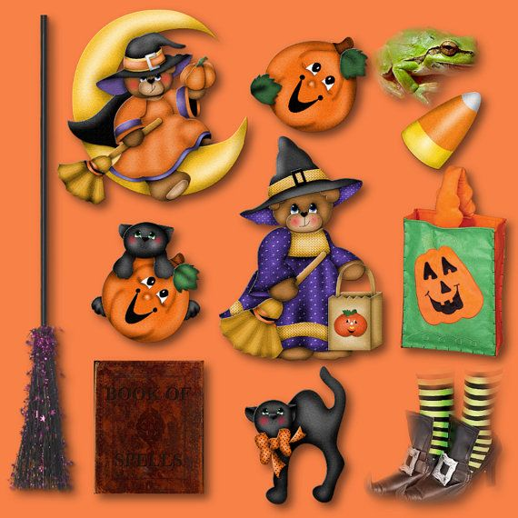 Halloween Sale  30  Off  Moon Witch Halloween  Digital Clipart For