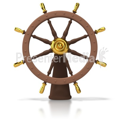 Ships Helm Wheel Presentation Clipart