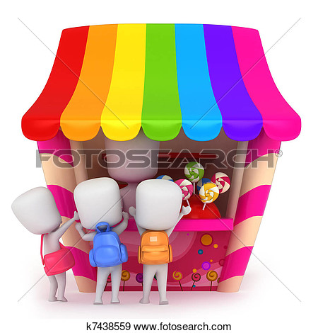 Stock Illustration   Candy Store  Fotosearch   Search Vector Clipart