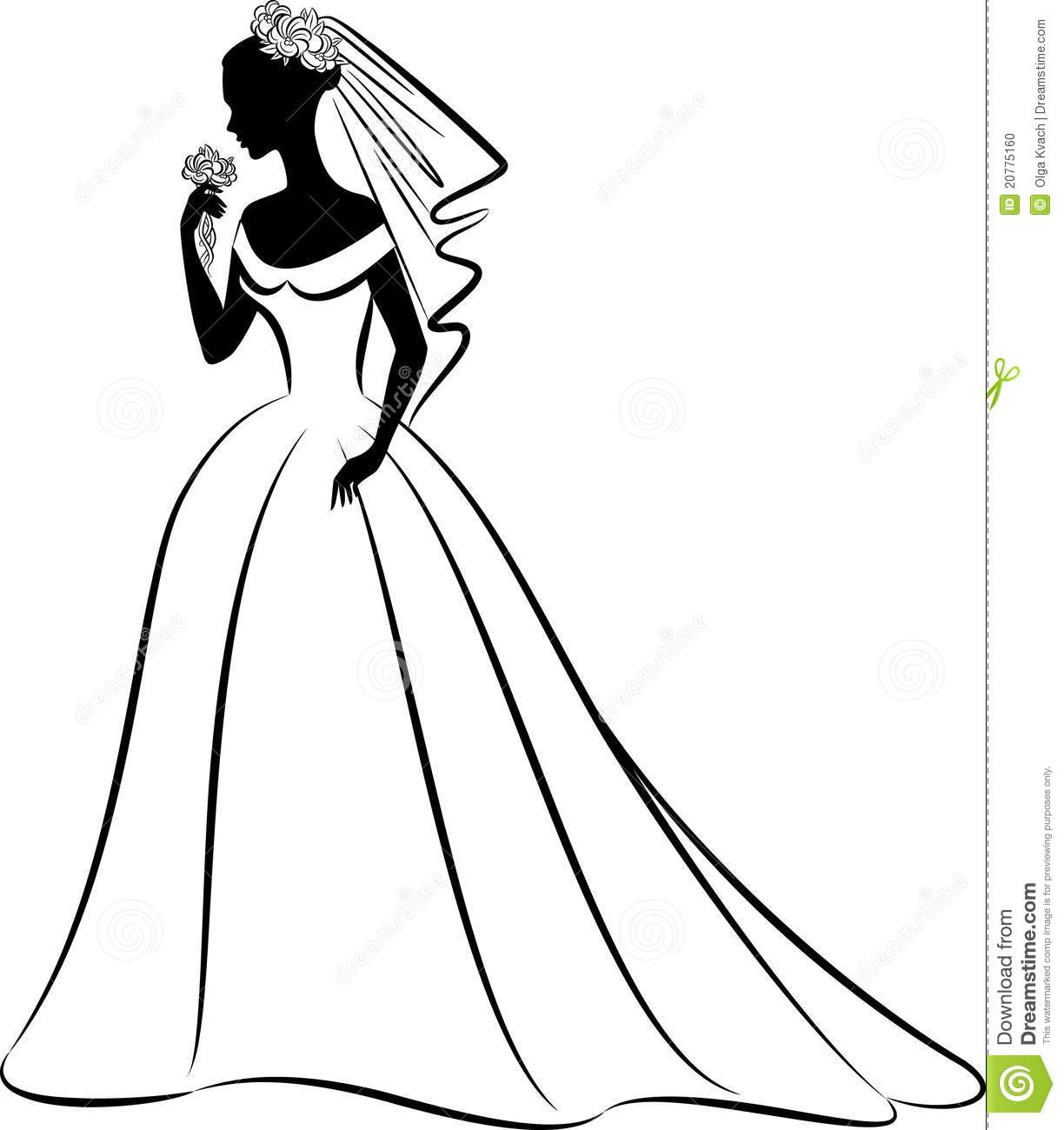 Dress Outline Clipart - Clipart Kid