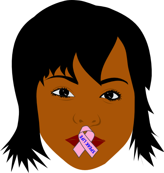 African American Woman Speak Life Clip Art At Clker Com   Vector Clip
