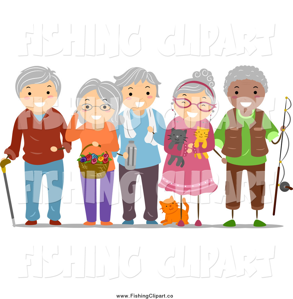 Art Of A Group Of Happy Diverse Senior Adults By Bnp Design Studio