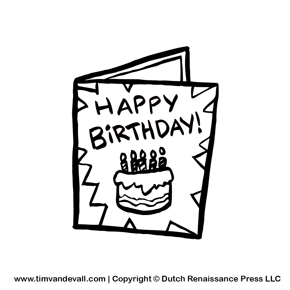 Greeting card black and white clipart suggest