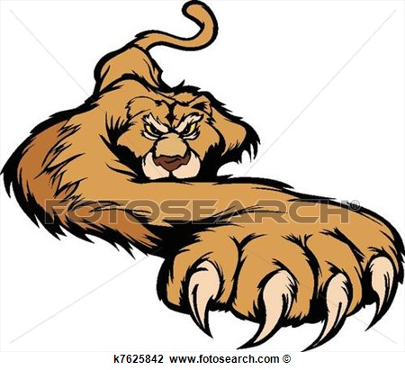 Clipart   Cougar Mascot Body Prowling Vector   Fotosearch   Search