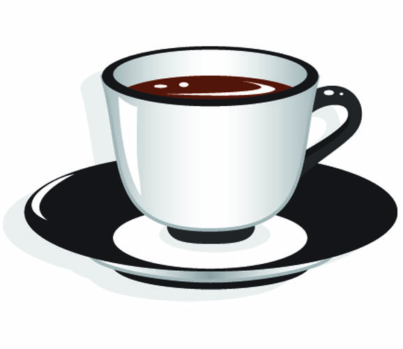 Tea Cup Black And White Clipart - Clipart Suggest