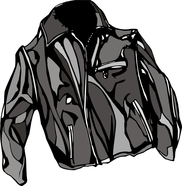 Leather Jacket Clip Art At Clker Com   Vector Clip Art Online Royalty