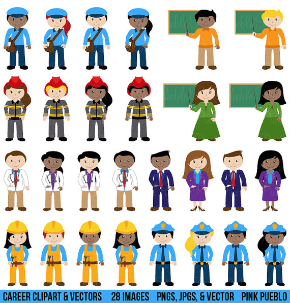People Clipart Clip Art Includes Character Career Teacher Classroom