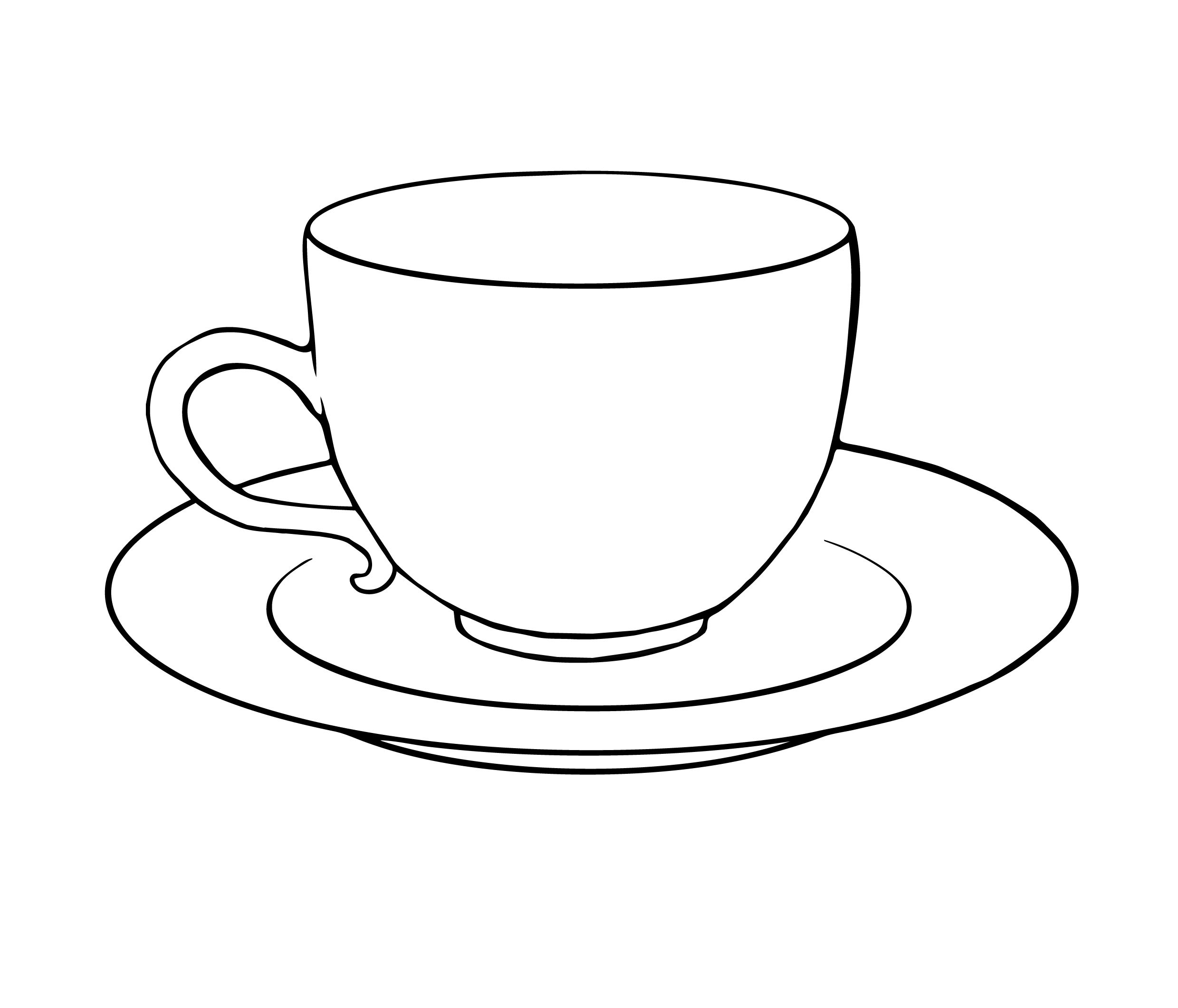 Tea Cup Saucer Colouring Pages