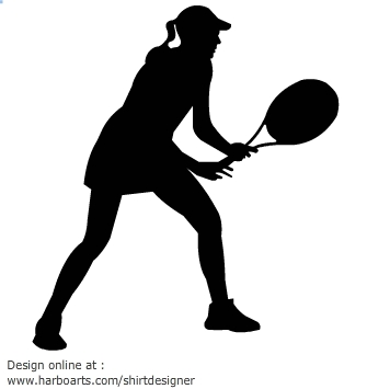 Tennis Silhouette Clipart - Clipart Kid