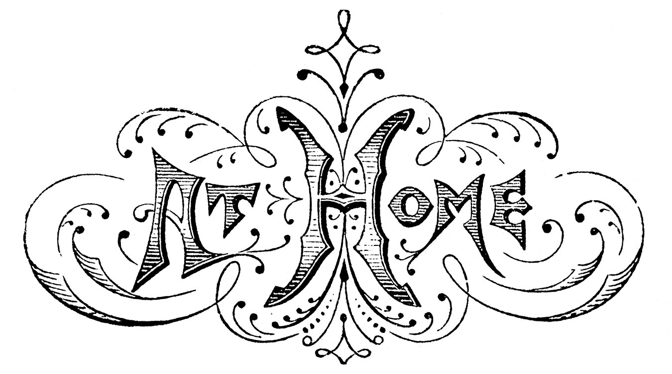 Vintage Black And White Clip Art   Wedding Typography   The Graphics